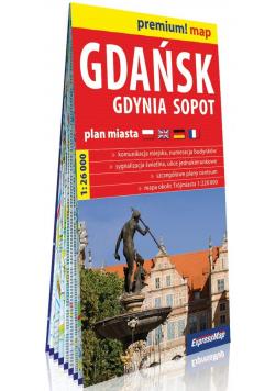 Premium! map Gdańsk, Gdynia, Sopot 1:26 000