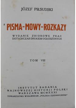 Pisma mowy rozkazy tom VIII 1931 r.