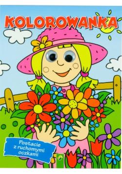 """Kolorowanka -""""Dziewczynka"""" postacie z ruch.oczkami"""