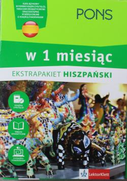 Hiszpański w 1 miesiąc z 3 tablicami językowymi i kursem online