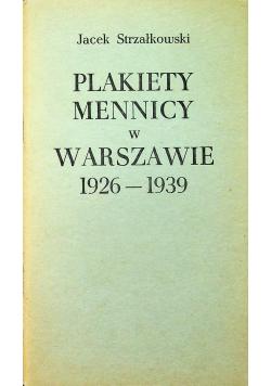 Plakiety Mennicy w Warszawie