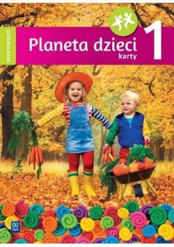 Planeta dzieci. Czterolatek. Karty pracy cz.1 WSiP