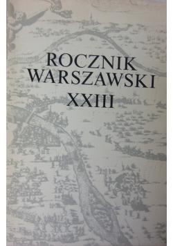 Rocznik Warszawski XXIII