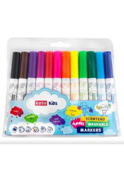 Pisaki Jumbo spiralne zapachowe 12 kolorów EASY