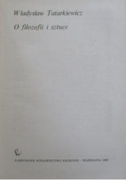 O filozofii i sztuce