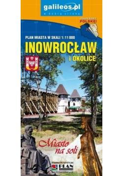 Plan miasta - Inowrocław i okolice 1:11 000