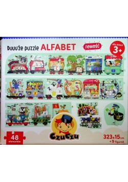Duuuże puzzle Alfabet 48 elementów
