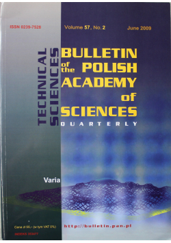 Bulletin of the polish academy of sciences volume 57 no 2