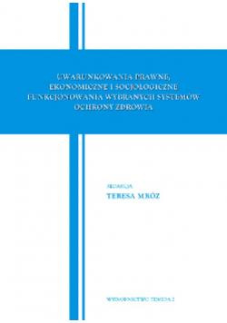 Uwarunkowania Prawne Ekonomiczne i socjologiczne