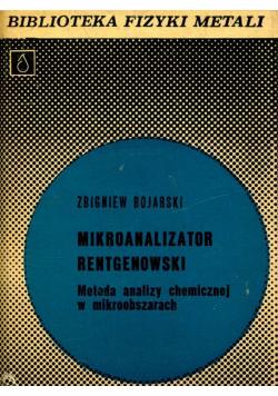 Mikroanalizator rentgenowski