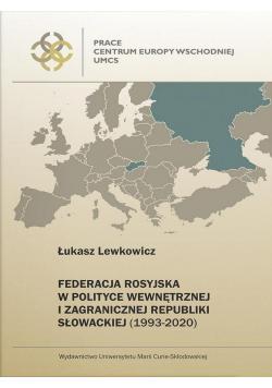 Federacja Rosyjska w polityce wewnętrznej...