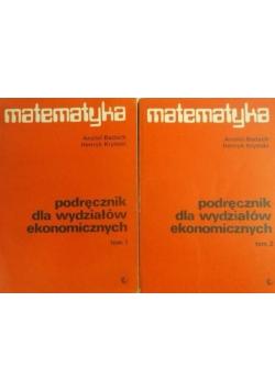 Matematyka podręcznik dla wydziałów ekonomicznych II Tomy
