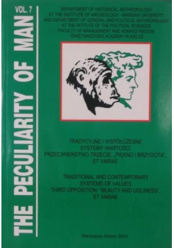 The Peculiarity of man vol 7