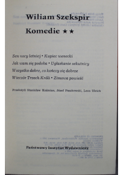Szekspir Komedie Tom II