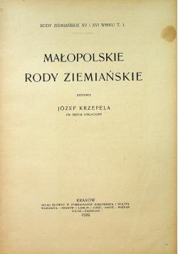 Małopolskie Rody ziemiańskie 1928 r.