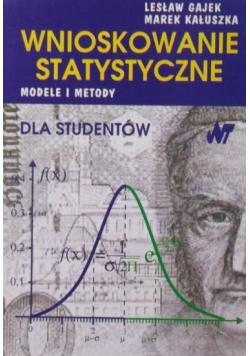 Wnioskowanie statystyczne Modele i metody