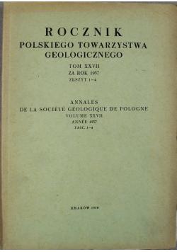 Rocznik polskiego towarzystwa geologicznego tom XXVII