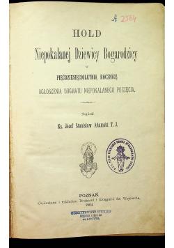 Hołd  Niepokalanej Dziewicy  Bogurodzicy 1904r