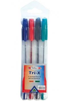 Długopis Today's Trix PVC Pouch 4szt NOSTER