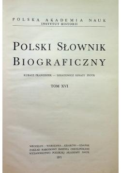 Polski słownik biograficzny tom XVI