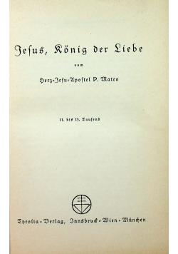 Jesus Konig der Liebe 1935 r.