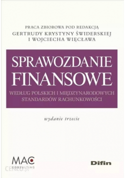 Sprawozdanie finansowe według polskich i międzynar