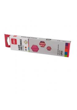 Ołówek 3700 2B drewniany z gumką (12szt) DELI