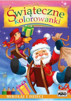 Świąteczne kolorowanki Mikołaj i dzieci