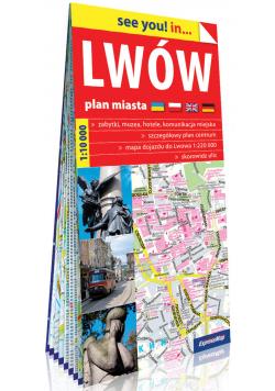 Lwów papierowy plan miasta 1:10 000
