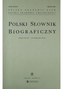 Polski Słownik Biograficzny Zeszyt 201