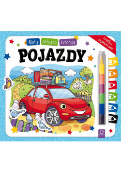Mały artysta koloruje pojazdy