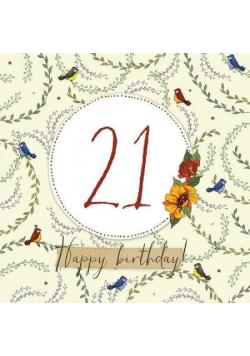 Karnet Swarovski kwadrat CL2221 Urodziny 21