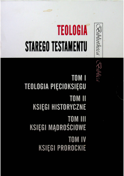 Teologia Starego Testamentu 4 tomy