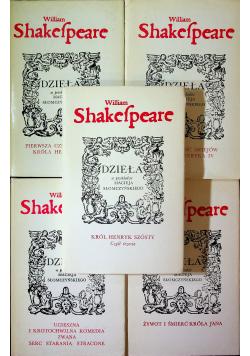 Shakespeare Dzieła 5 tomów