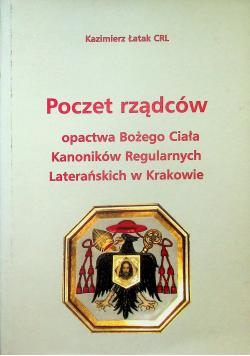 Poczet rządców opactwa Bożego Ciała Kanoników Regularnych Laterańskich w Krakowie