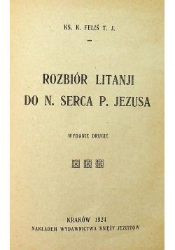 Rozbiór litanji do N Serca P Jezusa 1924 r