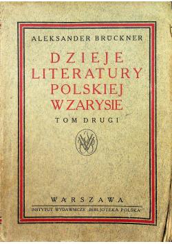 Dzieje literatury polskiej w zarysie tom II 1921 r.