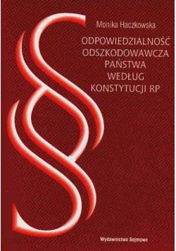 Odpowiedzialność odszkodowawcza państwa według konstytucji RP