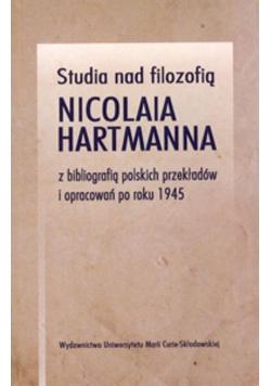 Studia nad filozofią Nicolaia Hartmanna..