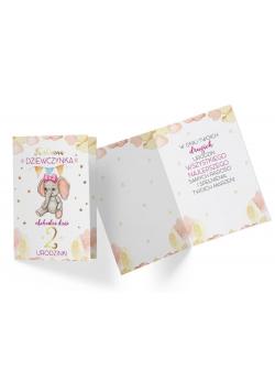Karnet PR-319 Urodziny 2 dziewczynka