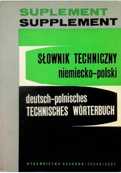 Słownik techniczny niemiecko-polski