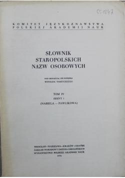 Słownik Staropolskich Nazw Osobowych Tom IV Zeszyt 1