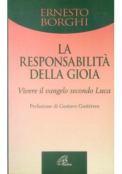 La Responsabilita Della Gioia