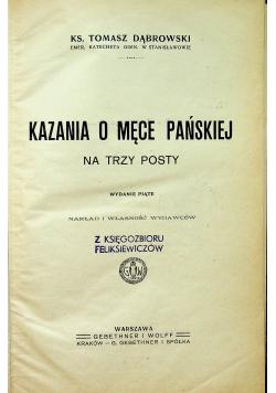 Kazania o Męce Pańskiej 1906 r.
