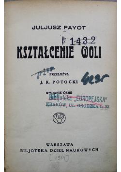 Kształcenie woli 1934 r