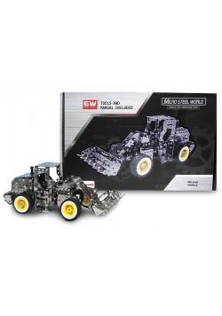Traktor z łyżką metal do skręcania 682 el.