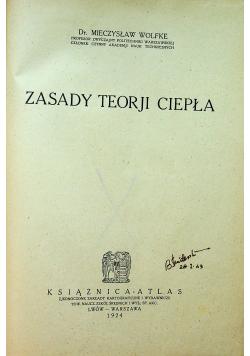 Zasady teorji ciepła 1924 r.