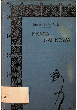 Fonck Praca naukowa 1910r.
