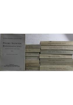 Polski słownik biograficzny Tomy 1 oraz od 3 do 16