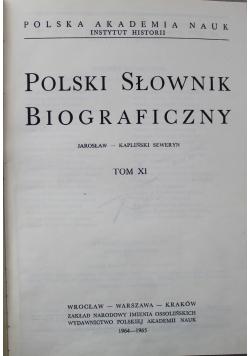 Polski Słownik Biograficzny Tom XI